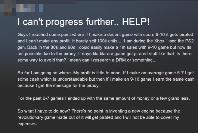 Χρήστης παραπονιέται για...το πειρατικό Game Dev Tycoon!
