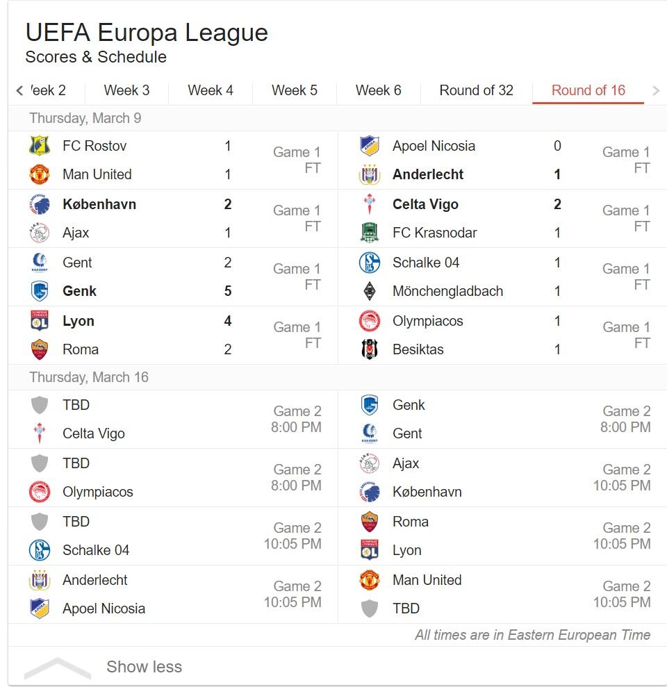 europa league 2017-10