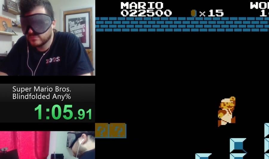 Ρεκόρ speedrun στο Super Mario Bros με κλειστά μάτια