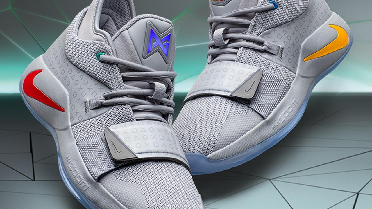 810f01ccccc Συλλεκτικά παπούτσια του Paul George από την συνεργασία Nike και PlayStation