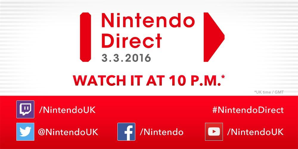Nintendo Direct: 3/3/2016