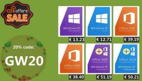 20% έκπτωση σε προϊόντα Microsoft Windows και Office