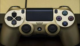 PS4 Slim Gold & Silver