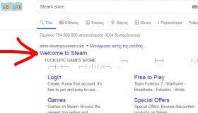 """Η περιγραφή του Google για το Steam Store γράφει """"Fuck Epic Games Store"""""""