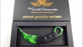 Fadecase Karambit Emerald Counter-Strike Global Offensive Knife