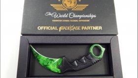 Fadecase Karambit Emerald Counter-Strike Global Offensive Knife