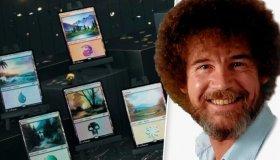 Κάρτες Magic: The Gathering με τοπία του Bob Ross