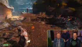Ο παρουσιαστής Conan O'Brien έπαιξε God of War στην εκπομπή του