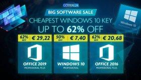 Windows 10 από 7.40 ευρώ και Office 2016 από 20.68 ευρώ