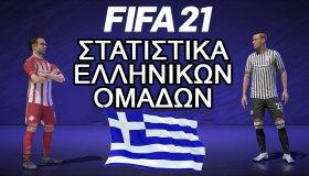 FIFA 21: Τα στατιστικά των ελληνικών ομάδων